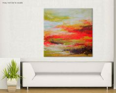 Abstract Painting Large Painting lost horizons by ElenasArtStudio