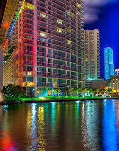 Tudo color em Miami, Flórida, EUA