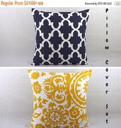 SALE ENDS SOON Throw Pillow Sets - Pillows Cover Set - Decorative Pillows for Couch - Decorative Sofa Pillows by HomeMakeOver on Etsy https://www.etsy.com/listing/245406148/sale-ends-soon-throw-pillow-sets-pillows