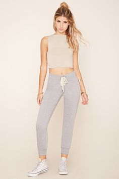 Lace-Up Sweatpants   Forever 21 - 2000195231
