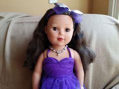 "Madame Alexander 18"" doll Dark Brown brunette hair brown eyes EUC beautiful"