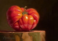 """Heirloom Tomato on Sycamore"" original fine art by Dave  Capalungan"