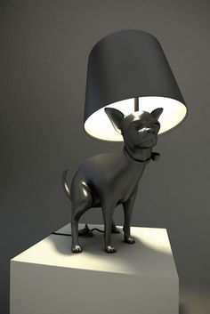 Defecating Dogs Brighten Up A Room. Pooping Dog Lamps By Whatshisname. - if it's hip, it's here