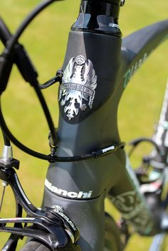 The Bianchi badge sits proudly on the headtube!!