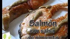 Muchas Recetas - YouTube Salmón con salsa de pimientos
