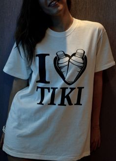 "Koszulka ""I love TIKI"" Rozmiary M, L"