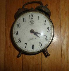 "Vintage Gabriel Alarm Clock Metal Robert Shaw Controls Co. Lux time div 6"" find me at www.dandeepop.com"