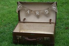 Burlap 'CARDS' bunting. $10.00, via Etsy.