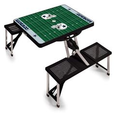 Score points with the crowd. The Cincinnati Bengals Football Field Folding Picnic Table is a durable, lightweight folding table with bench seats perfect for children or adults. Lightweight and portable, the compact folding table is made of molded . Outdoor Tables, Patio Table, Table And Chairs, A Table, Table Seating, Outdoor Fun, Portable Picnic Table, Folding Picnic Table, Picnic Tables