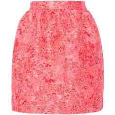 Markus Lupfer Vivian jacquard mini skirt (£124) ❤ liked on Polyvore featuring skirts, mini skirts, юбки, pink, mini skirt, zipper skirt, short mini skirts, multi color skirt and short skirts