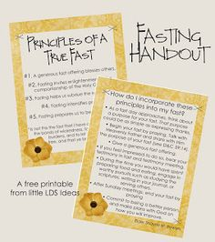 Fasting Handout