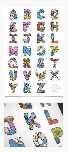 The Illustrations of Nathan Walker #design #typography #illustration