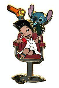 Lilo and Stitch barber shop pin
