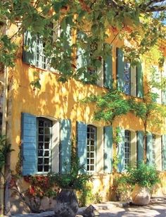 Ochre, gold, russet, rust, blue, The beautiful colors of Provence are found on houses painted in the  country style of Provence.