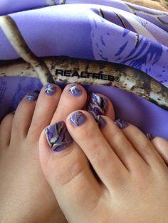 Realtree Purple Camo Toes Camouflage Nails, Camo Nails, Toe Nail Designs, Nail Polish Designs, Hot Nails, Hair And Nails, Camo Toe, Country Nails, Purple Camo