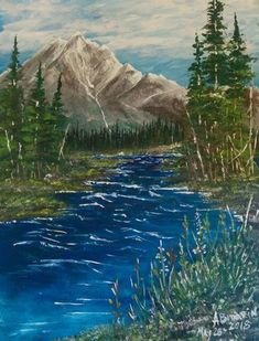 Portfolio Gallery for Al Budarin Impressionist Paintings, Rocky Mountains, The Great Outdoors, Places To Visit, Clip Art, Adventure, Waterfalls, Gallery, Display