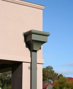 Powder Coated Guttering On An Office Building Commercial And Box