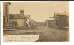 MICH RPPC Main Street Amasa Michigan Real Photo Postcard
