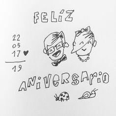 Felíz #Aniversario bichito. #tequiero #tolrato #infinito #19 #hastaelinfinito  #rapidosyfuriosos #uniball #sketch #dailysketch #sketchbook #amor #aniversary #happy #wedding #love