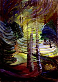 Dancing Sunlight (ca. - Emily Carr, Canadian Group of Seven Tom Thomson, Canadian Painters, Canadian Artists, Emily Carr Paintings, Group Of Seven, Impressionist Paintings, Canada, Tree Art, Great Artists