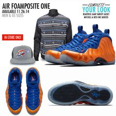 We have the 'Knicks' Foamposites for men in all our locations!