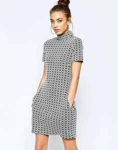 0659a673 LOVE this from ASOS! High Neckline Dress, White Shift Dresses, Casual Day  Dresses