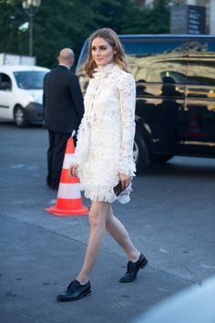 Olivia Palermo outside the Giambattista Valli show on July 3 2017 in Paris France
