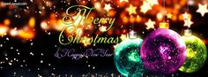 Merry Christmas and New Year Facebook Cover coverlayout.com
