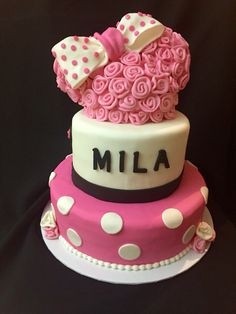 Minnie Mouse Rossetes cake.