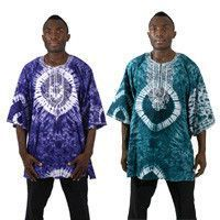 Embroidered Tie-Dye Dashiki #AfricanFashion