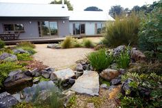 Phillip Johnson Landscapes ''Nature has enthralled, inspired & energised me my whole life. We design, build and maintain sustainable habitats that help to heal the earth and create spaces where you can completely unwind. Garden Huts, Bush Garden, Garden Bed, Landscape Design, Garden Design, Gravel Landscaping, Australian Native Garden, California Garden, Garden Inspiration