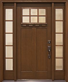 Fiberglass front door - Craftsman Collection from Clopay