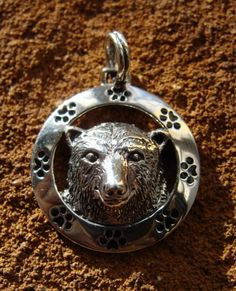 Bear silver pedant
