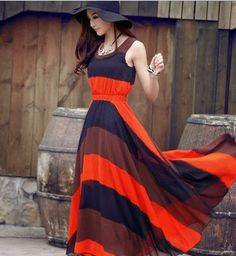 Summer Maxi Dress - i love this dress and the colors are great together.
