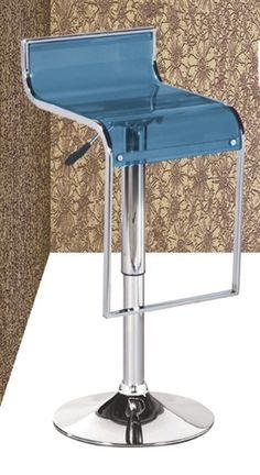 Cheap Bar Stools - Blue Acrylic | DefySupply