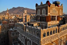 Travel guide to Yemen. What to see and do in Yemen. Travel inspiration, maps, and pictures by Globe Spots. Yemen Sanaa, Beautiful World, Beautiful Places, Eastern Palace, Indian Architecture, Old City, Old Town, Middle East, Travel Inspiration