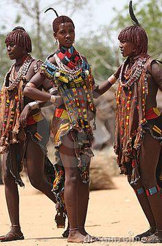 People of Africa, portraits of African Tribal Ethnic Groups. Ethiopia