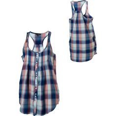 Idea to sew mens dress shirt into tunic tank top...