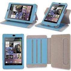 i-Blason Google Nexus 7 inch Tablet Genuine Leather Case Cover-Blue