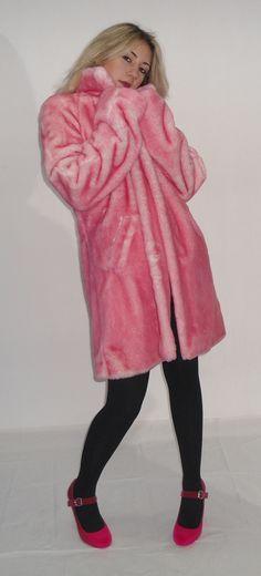 Synthetic fur coat