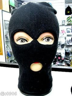 2536c176b Full Beanie Face Black Ski Mask face mask costume halloween attire-New