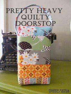 My amazing friend Maddie's Quilty Doorstop tutorial