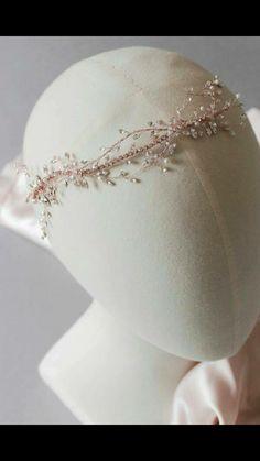 faf141e250d Wedding head piece Rose Gold Wedding Jewelry
