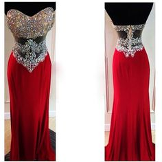 Red Prom Dresses,Prom Dress,Sweetheart Prom Dresses,Mermaid Prom Dresses,Crystals