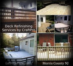 Deck refinishing services by CraftPro Contracting delivers beautiful results at a fraction of the cost of a deck rebuilding project