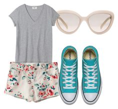 """""""Florals"""" by brittany-wilkewitz on Polyvore featuring Prada and WithChic"""