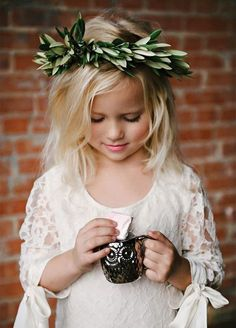 Hair Accessories: Be the natural goddess you are by adding fresh green leaves as a hair accessory. Flower girl