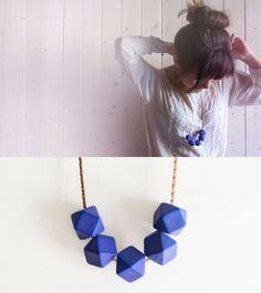 Delta Necklace in Cobalt Blue