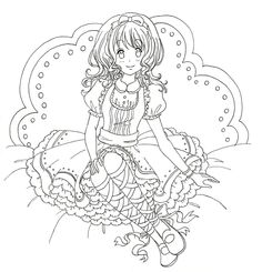 Sweet Lolita Doll Line Art by MunMunChan.deviantart.com on @DeviantArt