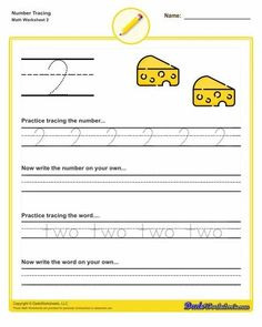 Number tracing preschool worksheets are a crucial first step for preschool students learning to read, write and identify simply quantities. These worksheets will have preschoolers practicing their fine motor skills as they learn to write numbers in both written and numeric form, and identify the quantity of shapes on the same page. These worksheets cover the numbers from 1 to 12. Many more preschool resources on the site... Click through to view and print! Basic Math Worksheets, Free Printable Math Worksheets, Kindergarten Math Worksheets, Preschool Math, Spelling Test Template, Math Exercises, Math Subtraction, Number Tracing, Math Addition